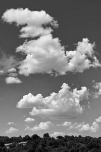 Wolken am Horizont | Schwarzweiß-Fotografie