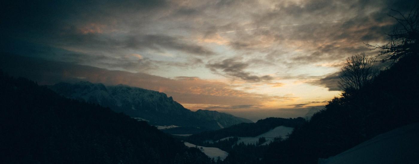 Sonnenuntergang in den Bergen | Fotografieren bei Nacht