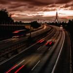 Lichtspuren am Niederrhein - Langzeitbelichtung