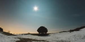 Winterliche Nachtlandschaft | Fotografieren bei Nacht