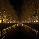 Nachtfotografie - Kö-Graben mit Weihnachtsbeleuchtung
