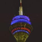 Nachtfotografie - Rheinturm HDRI