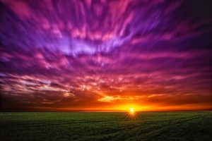 Sonnenuntergang in Südmähren - Langzeitbelichtung & HDRI mit vier verschiedenen Filtern