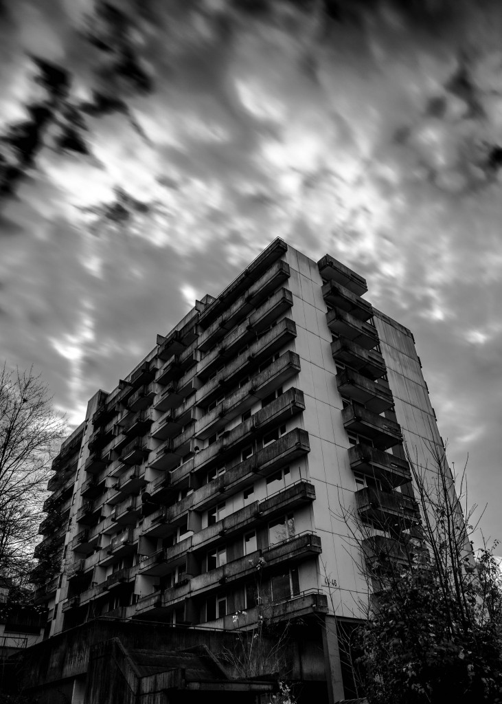 Wuppertal - Hochhäuser am Schmitteborn - Langzeitbelichtung