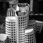 Vogelperspektive Ghery-Bauten