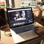"Shooting einer Stop-Motion-Animation | Animation des Films ""Cornell und der Toaster"" am Laptop © Robert Scheffner"