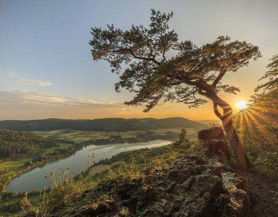 Houbirg – Hohler Fels im Abendlicht © Kalmi