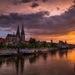 Regensburger Dom im Abendlicht © Kalmi