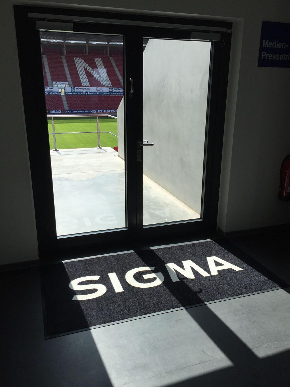 Branding im SIGMA-Medienaufenthaltsraum von Mainz 05