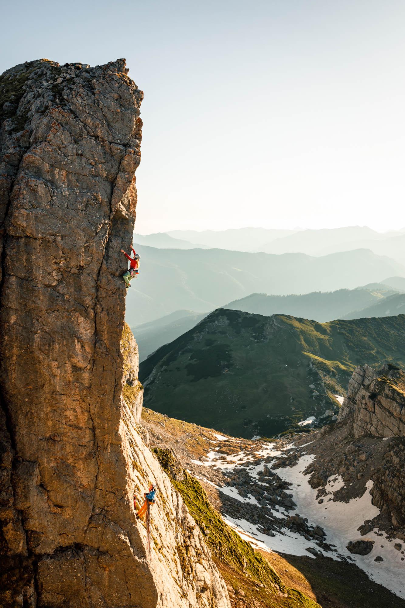 Klettershooting in den Tiroler Bergen © Maximilian Draeger